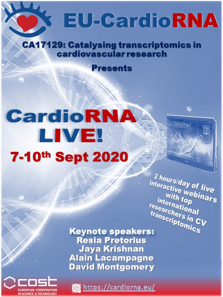 EU-CardioRNA presents CardioRNA LIVE! 2020, 7-10 September