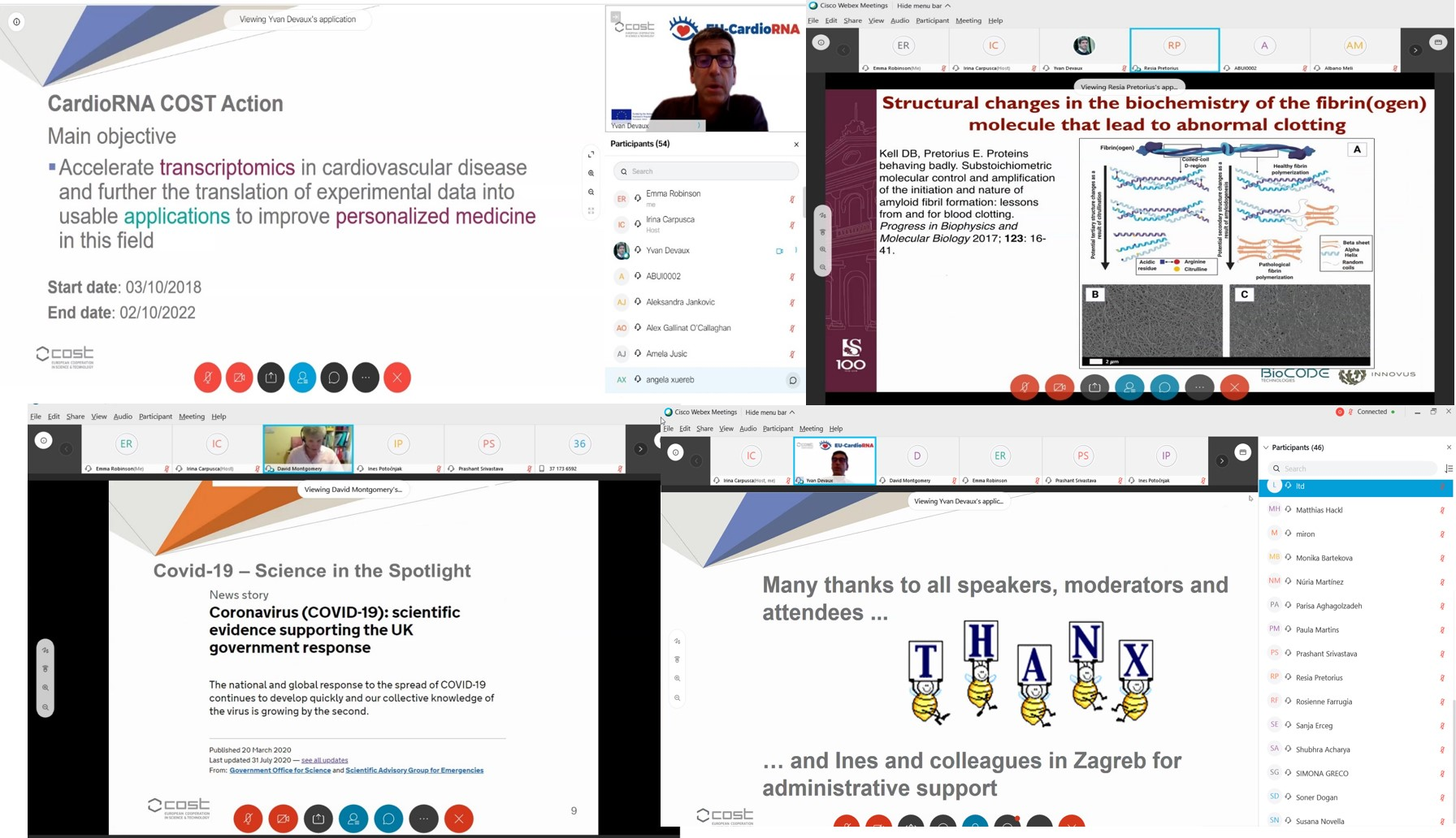 Successful first EU-CardioRNA Digital meeting: CardioRNA LIVE! 7-10 September