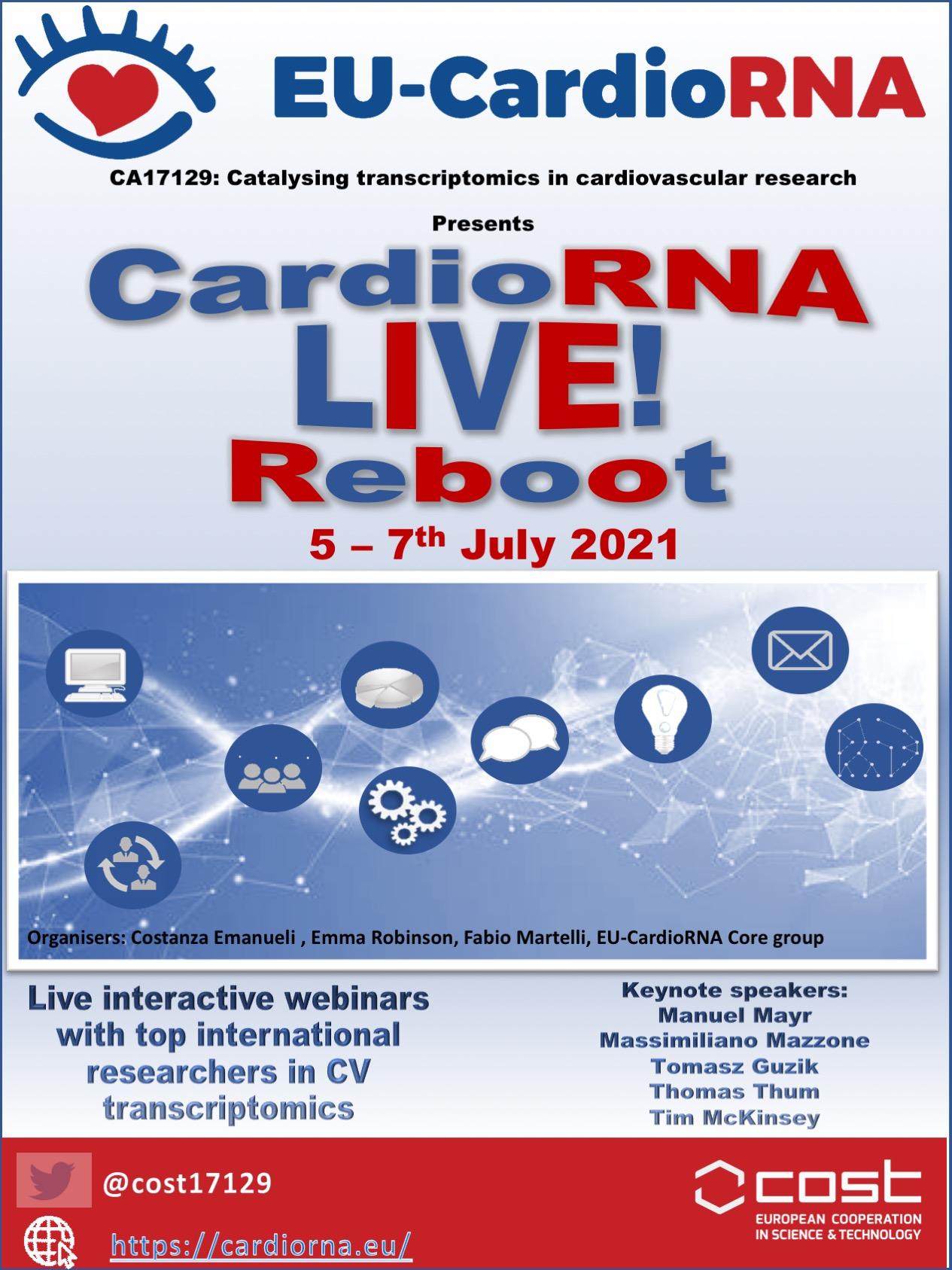 CardioRNA LIVE! Reboot virtual meeting, 5-7th July 2021